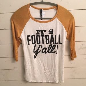 NEW football raglan quote tee